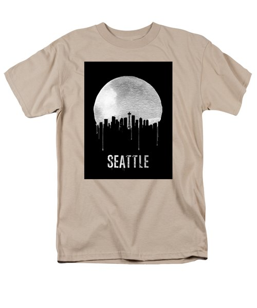 Seattle Skyline Black Men's T-Shirt  (Regular Fit) by Naxart Studio