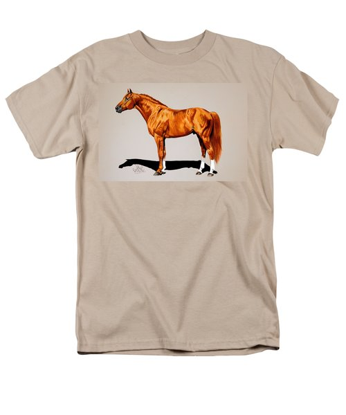 Secretariat - Triple Crown Winner By 31 Lengths Men's T-Shirt  (Regular Fit) by Cheryl Poland