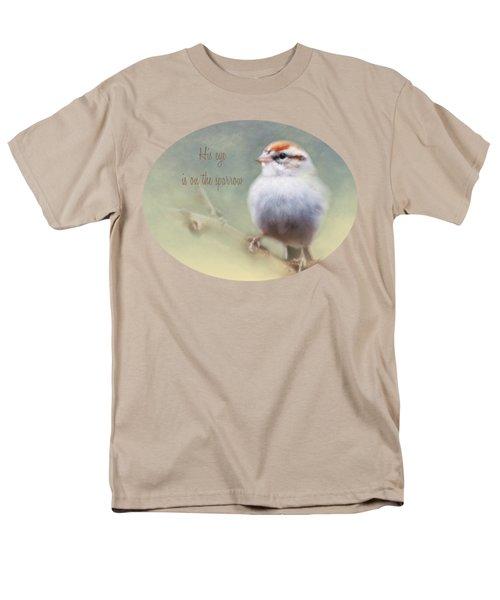 Serendipitous Sparrow - Quote Men's T-Shirt  (Regular Fit) by Anita Faye
