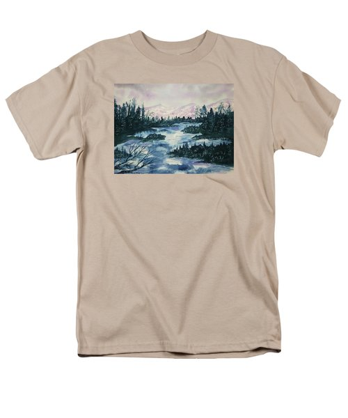Men's T-Shirt  (Regular Fit) featuring the painting Serenity IIi by Ellen Levinson