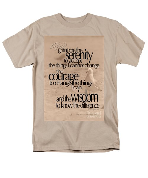 Serenity Prayer 04 Men's T-Shirt  (Regular Fit) by Vicki Ferrari