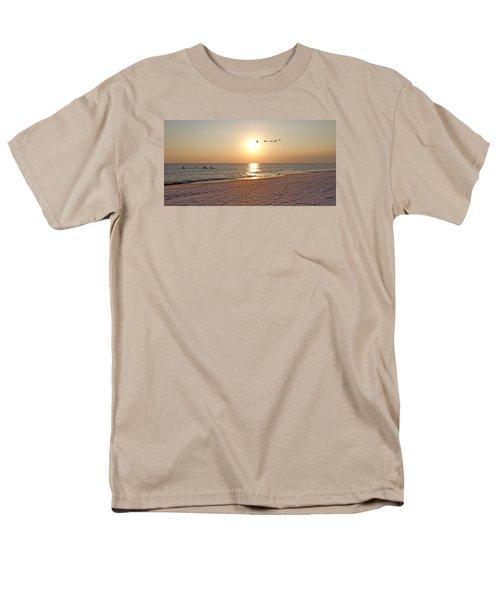 Shackleford Banks Sunset Men's T-Shirt  (Regular Fit) by Betsy Knapp
