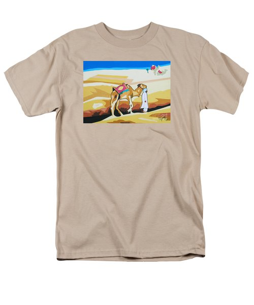 Men's T-Shirt  (Regular Fit) featuring the painting Sharing The Journey by Ragunath Venkatraman