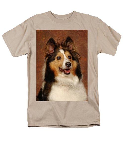 Sheltie Men's T-Shirt  (Regular Fit) by Greg Mimbs