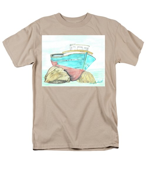Men's T-Shirt  (Regular Fit) featuring the painting Ship Wreck by Terry Frederick