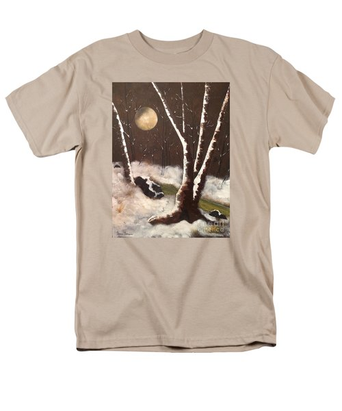 Men's T-Shirt  (Regular Fit) featuring the painting Silent Night by Denise Tomasura