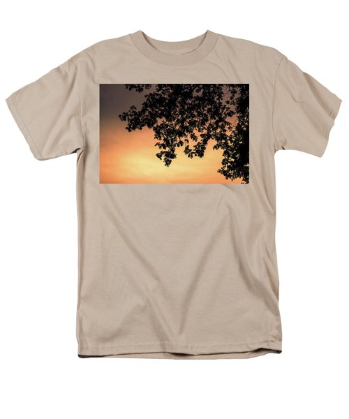 Silhouette Tree In The Dawn Sky Men's T-Shirt  (Regular Fit) by Jingjits Photography