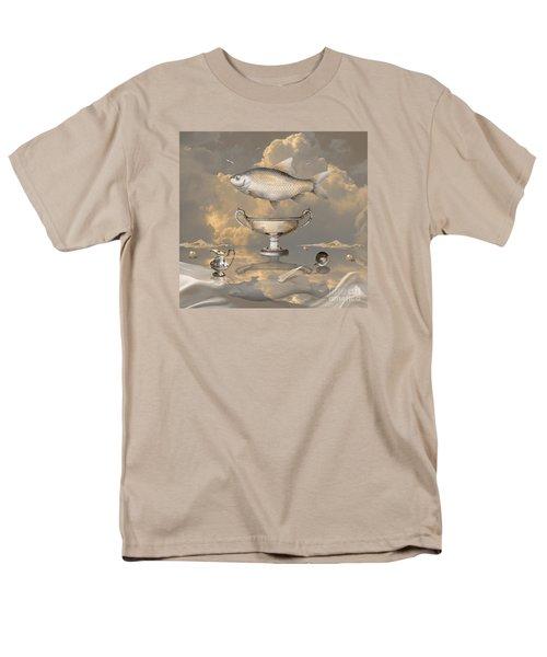 Men's T-Shirt  (Regular Fit) featuring the digital art Silver Mood by Alexa Szlavics