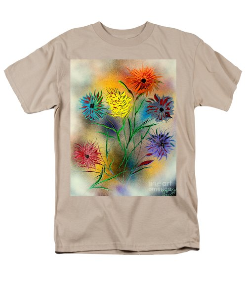 Six Flowers - E Men's T-Shirt  (Regular Fit) by Greg Moores