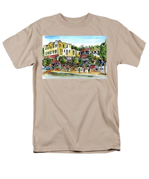 Men's T-Shirt  (Regular Fit) featuring the painting Sketch Crawl In Truckee by Terry Banderas