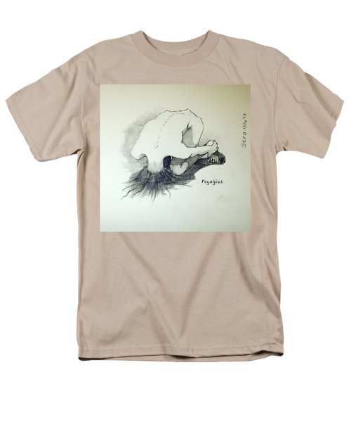 Men's T-Shirt  (Regular Fit) featuring the painting Sketch Of Sera.10.03 by Ray Agius