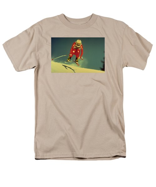 Men's T-Shirt  (Regular Fit) featuring the photograph Skiing In Crans Montana by Travel Pics