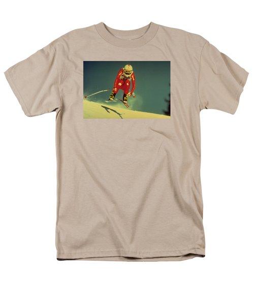 Skiing In Crans Montana Men's T-Shirt  (Regular Fit)