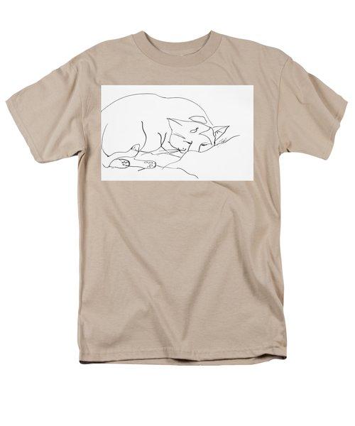 Sleeping Cat Men's T-Shirt  (Regular Fit) by Leela Payne