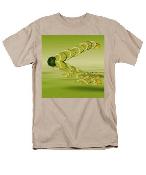 Men's T-Shirt  (Regular Fit) featuring the photograph Slices Lemon Lime Citrus Fruit by David French