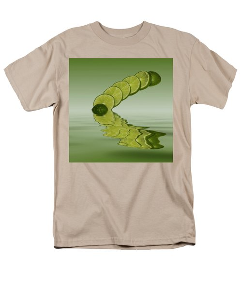 Men's T-Shirt  (Regular Fit) featuring the photograph Slices Lime Citrus Fruit by David French