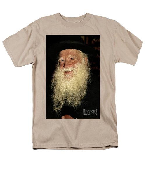 Men's T-Shirt  (Regular Fit) featuring the photograph Smiling Picture Of Rabbi Yehuda Zev Segal by Doc Braham