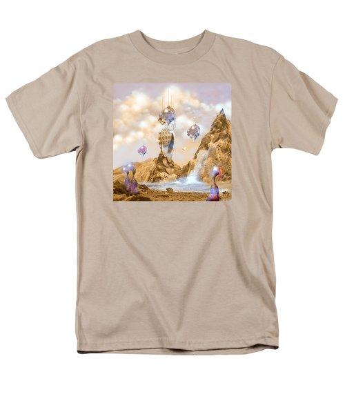 Men's T-Shirt  (Regular Fit) featuring the digital art Snail Shell City by Alexa Szlavics