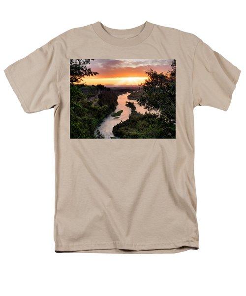 Snake River Sunset Men's T-Shirt  (Regular Fit) by Leland D Howard