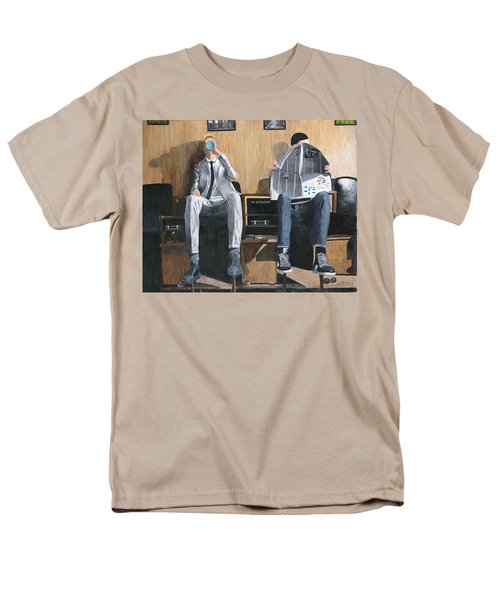 Men's T-Shirt  (Regular Fit) featuring the painting Sneakers Need Polishing Too by Stuart B Yaeger