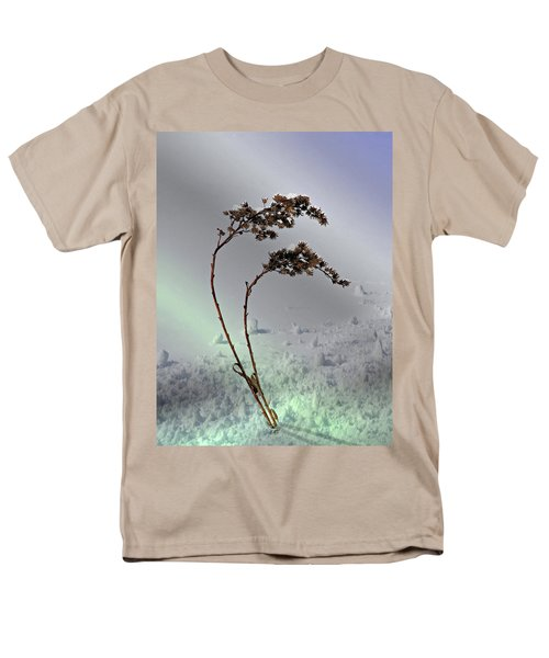 Men's T-Shirt  (Regular Fit) featuring the photograph Snow Covered Weeds by Judy Johnson