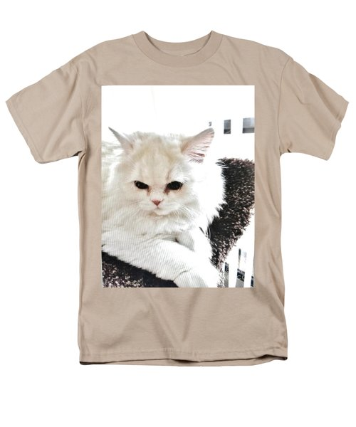 Snowball Is 92 Year Old Widows Cat Men's T-Shirt  (Regular Fit) by Marsha Heiken