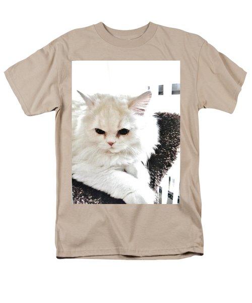 Men's T-Shirt  (Regular Fit) featuring the photograph Snowball Is 92 Year Old Widows Cat by Marsha Heiken