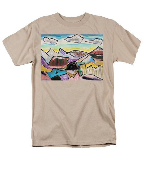 Men's T-Shirt  (Regular Fit) featuring the painting Some Gold In The Hills by Mary Carol Williams