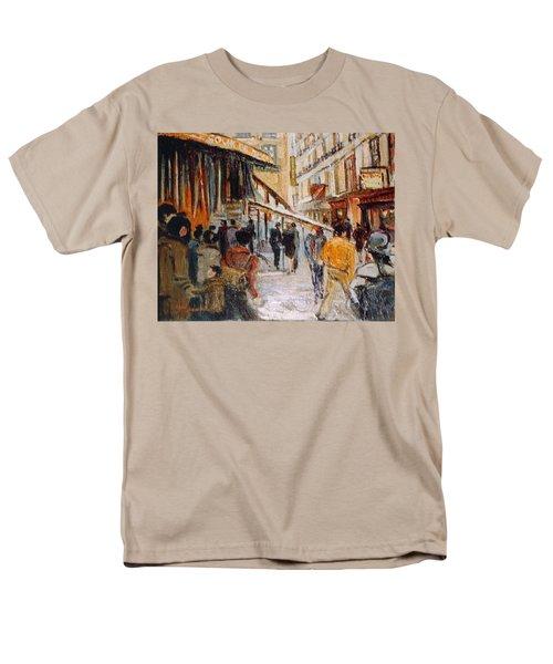 Men's T-Shirt  (Regular Fit) featuring the painting Souk De Buci by Walter Casaravilla