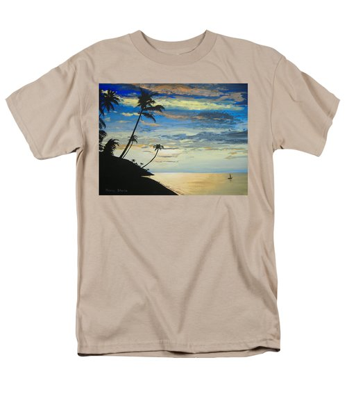 Men's T-Shirt  (Regular Fit) featuring the painting South Sea Sunset by Norm Starks