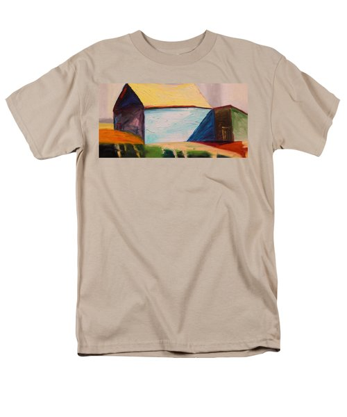 Men's T-Shirt  (Regular Fit) featuring the painting Southern Barn by John Williams