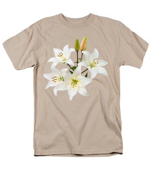 Spray Of White Lilies Men's T-Shirt  (Regular Fit) by Jane McIlroy