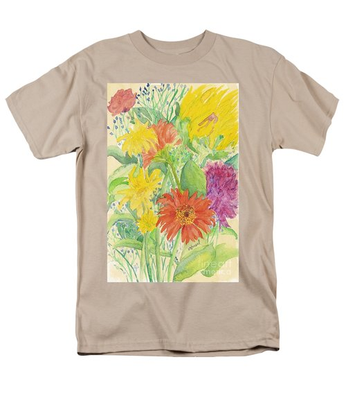 Men's T-Shirt  (Regular Fit) featuring the painting Spring Bouquet  by Vicki  Housel