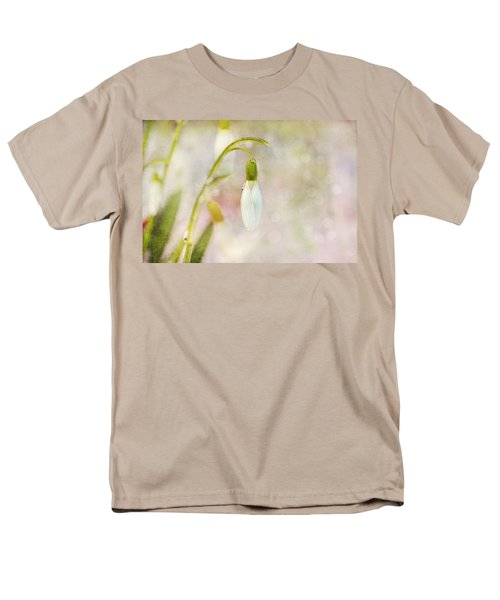 Spring Snowdrops And Bokeh Men's T-Shirt  (Regular Fit) by Peggy Collins