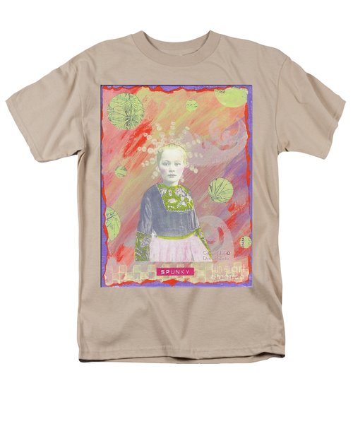 Men's T-Shirt  (Regular Fit) featuring the mixed media Spunky Got Funky by Desiree Paquette
