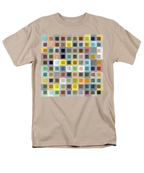 Squares In Squares Three Men's T-Shirt  (Regular Fit) by Michelle Calkins