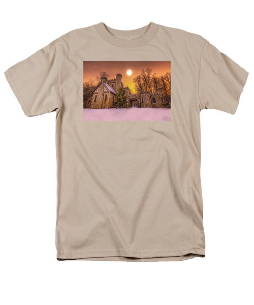 Men's T-Shirt  (Regular Fit) featuring the photograph Squires Castle In The Winter by Brent Durken