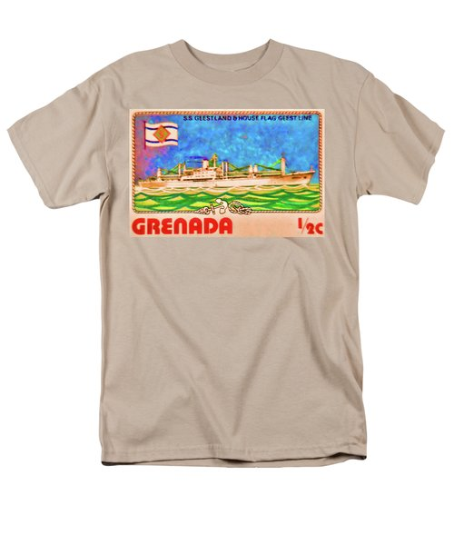 S.s Geestland And House Flag Geest Line Men's T-Shirt  (Regular Fit) by Lanjee Chee