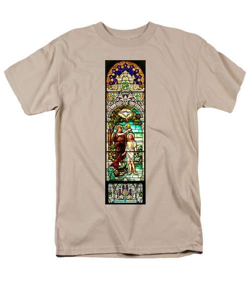 Men's T-Shirt  (Regular Fit) featuring the photograph Stained Glass Scene 2 Crop by Adam Jewell