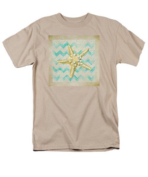 Starfish In Modern Waves Men's T-Shirt  (Regular Fit) by Sandi OReilly