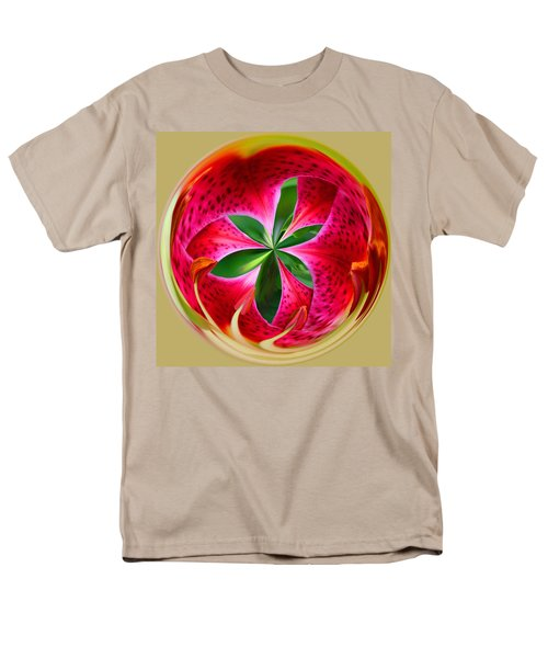 Men's T-Shirt  (Regular Fit) featuring the photograph Stargazer Lily Orb by Bill Barber