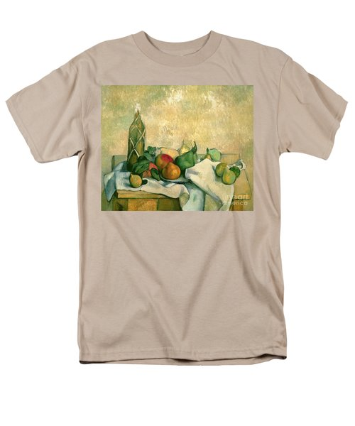 Still Life With Bottle Of Liqueur Men's T-Shirt  (Regular Fit) by Paul Cezanne