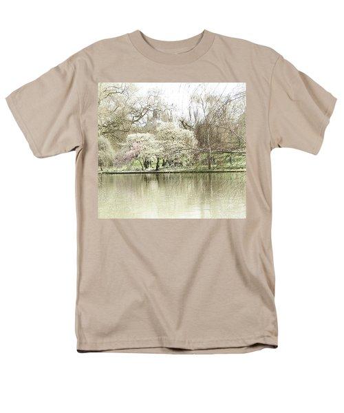 St. James Park London Men's T-Shirt  (Regular Fit) by Judi Saunders