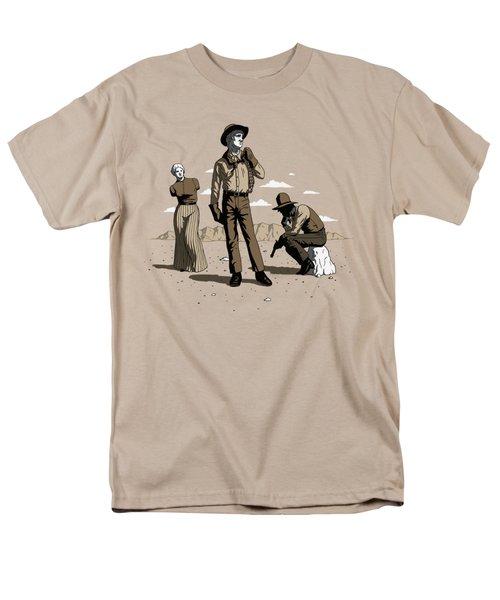 Men's T-Shirt  (Regular Fit) featuring the digital art Stone-cold Western by Ben Hartnett