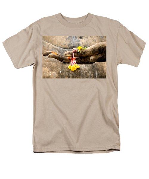 Stone Hand Of Buddha Men's T-Shirt  (Regular Fit)