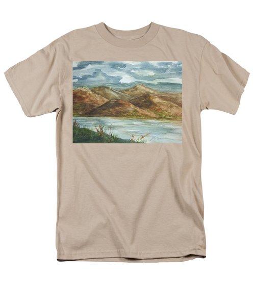 Men's T-Shirt  (Regular Fit) featuring the painting Storm Clouds by Ellen Levinson