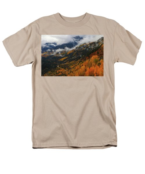 Men's T-Shirt  (Regular Fit) featuring the photograph Storm Clouds Over Mcclure Pass During Autumn by Jetson Nguyen