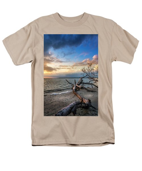 Men's T-Shirt  (Regular Fit) featuring the photograph Stormy Sunset by Marvin Spates