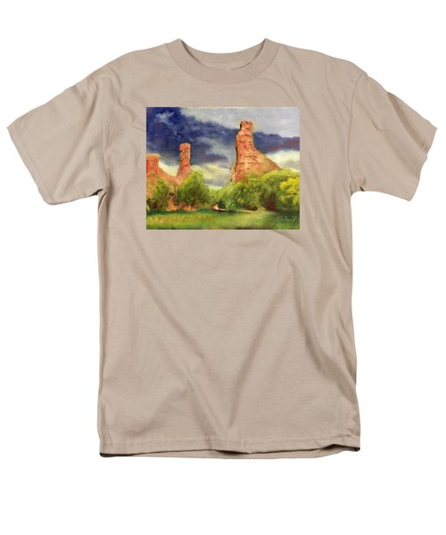 Men's T-Shirt  (Regular Fit) featuring the painting Strawberry Pinnacles by Sherril Porter