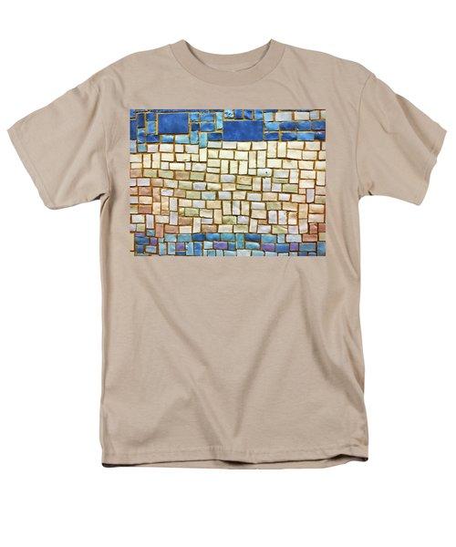 Subway Tile No. 43-1 Men's T-Shirt  (Regular Fit) by Sandy Taylor